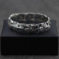 Серебра ширина сороконожка Форма браслет мужской Япония и Южная Корея личность битник тайский серебряный браслет Гладкий