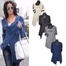 Women Girls' Loose Sweater Outwear Long Sleeve Knitted Cardigan Jacket Coat Sweater