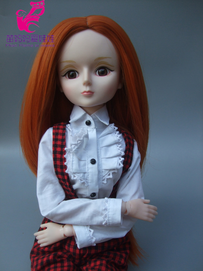 Natural Color Soft Straight Hair Wig For 1/3 1/4 1/6 Bjd Doll For Russian Handmade Diy Doll Wigs-012 Toys & Hobbies