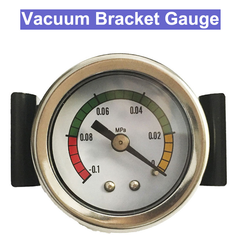 SP Free shipping New Arrival 45mm Bracket Vacuum Pressure Gauge -0.1~0Mpa Manometer