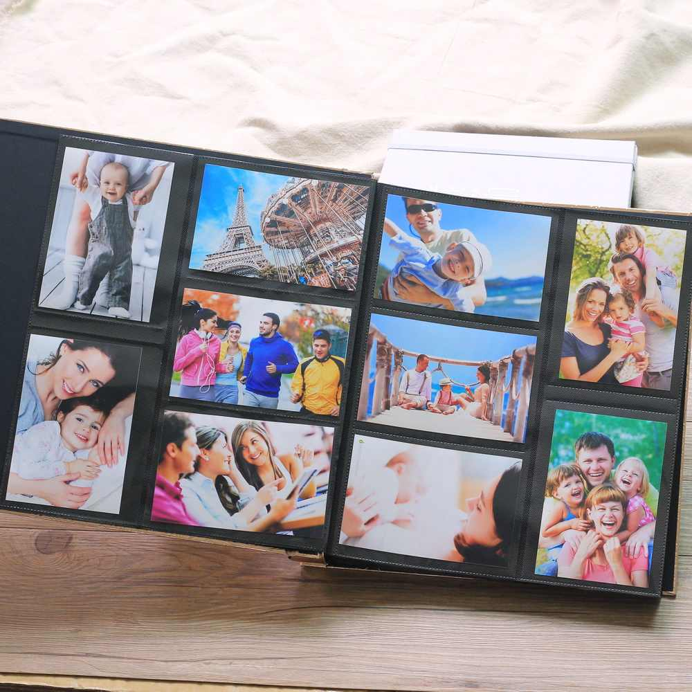 Premium -Frame Cover Large Family Wedding Anniversary Baby Vacation Photo Album 600 Pockets Holds Bound Multi-Directional 4x6 Ph