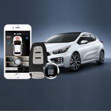 Auto Remote Start Alarm Phone Control Car System Keyless Entry PKE RFID Lock Lgnition Stop By Smart Key