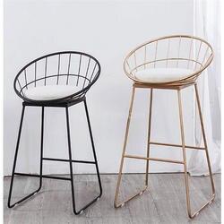65 см/см 75 см высота сиденья барный стул современный золотистый и черный металл барный стул гладить книги по искусству мягкие подушки