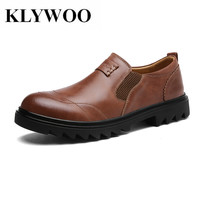 KLYWOO New Brand Luxury Mens Shoes Leather Breathable Mens Casual Shoes Handmade Mens Loafers Fashion Designer