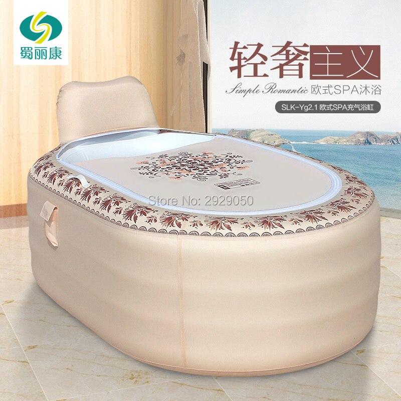 165X105X77 cm maison européenne baignoire gonflable adulte pliante en plastique baignoire adulte bain baril de bain baril - 4