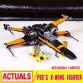 Lepin 05004 Serie Star El Primer Pedido de Poe x-wing Combatiente Bloques de Montaje Compatible 79209