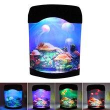 Creative Beautiful Aquarium Night Light LED Light Artificial Seajelly Tank Swimming Mood Lamp Fish for Home Desk @LS AU08