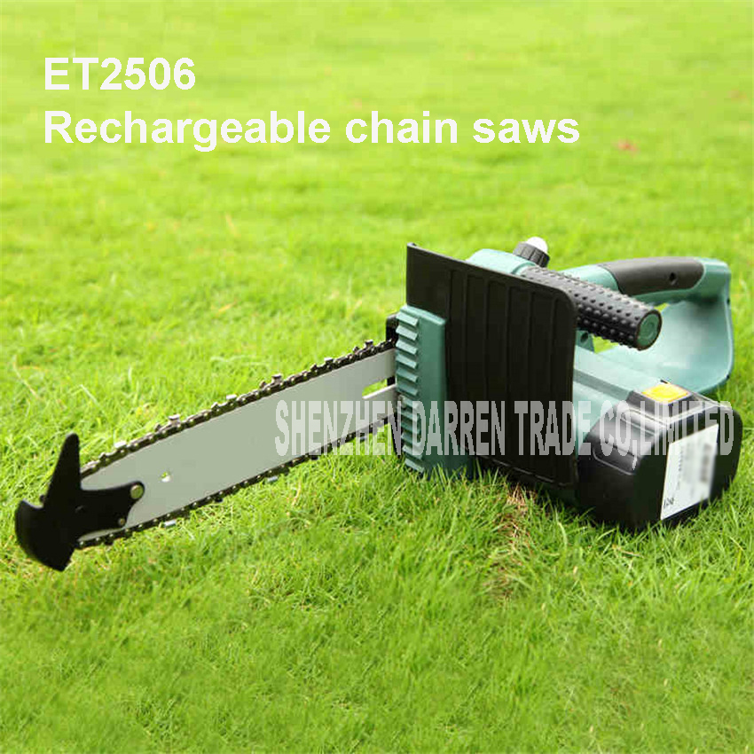 power tools 18 v li-ion cordless electric chainsaw 10'bar and garden power tools 2000 mAh Battery capacity ET2506 Chain Saw
