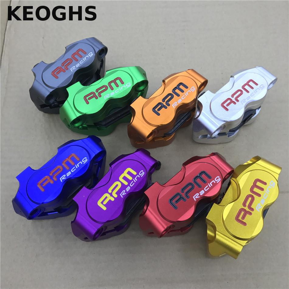 KEOGHS Rpm Cnc Motorcycle Scooter Brake Calipers 200mm/220mm Disc Brake Pump Bracket For Yamaha Aerox Nitro Jog Bws 100 Zuma keoghs motorcycle brake disc floating 220mm 70mm hole to hole for yamaha scooter honda modify