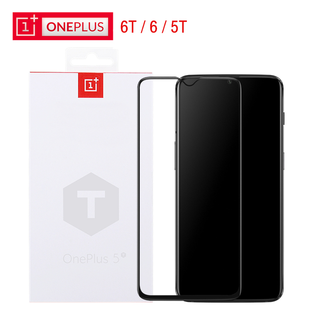 24942016a4e76f Official OnePlus 6T 3D Tempered Glass Screen Protector Original One Plus 5T  Black Tempered Glass Full