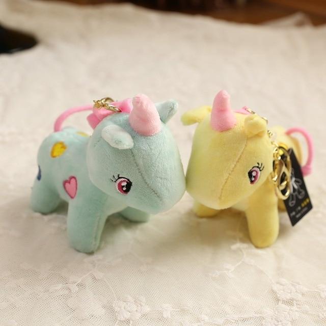 Fantasia & Fantasy Animal Bonito Unicórnio Cavalo Unicórnio de Pelúcia Boneca Da Moda Coração Da Corrente Chave Bugiganga Keychain Saco Pingente de Acessórios Do Presente