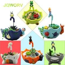Hot 9-Style Cartoon Cute totoro flower pot farmhouse decor Resin Creative Crafts planters Home office garden succulent plant