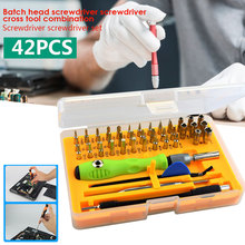 Multi Function Screwdriver Repair Tool Hardware 42 in 1 Yellow Practical Portable Hand Operated Tools 12 in 1 multi tool box for toolsthe toolkits household hardware tools suit
