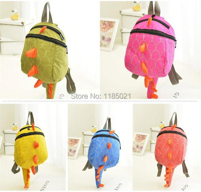 2014 new arrival children school bags kids backpack dragon dinosaur children backpacks with pen bag children's day gift for girl