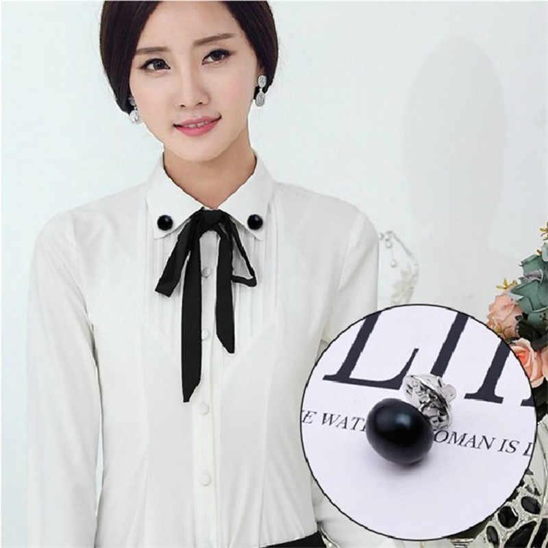 ホット販売クラシックエレガントな女性ジュエリー韓国模造真珠の襟カーディガンショールバックル DIY スカーフブローチピン