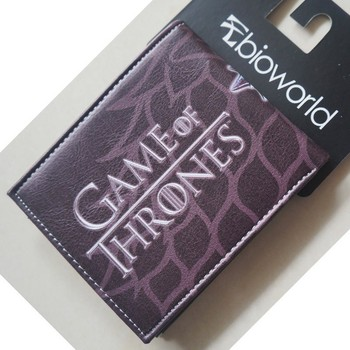 Games of Thrones Cartoon Gift Bags Men Leather Purse Cute Wallet 4.5 inch Winier Coming Stark Purse