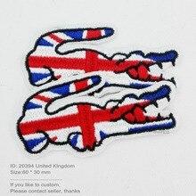 """Fallout патчи для одежды 20400 крокодил Флаг Великобритании железа на патчи """"Принять Индивидуальные"""" гарантия качество патч"""