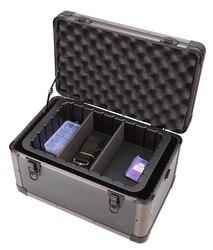 Небольшой Жесткий защелкивающийся Алюминиевый Твердый контейнер ящик для хранения инструмента камеры фотографии DJ пены резки приспособле...