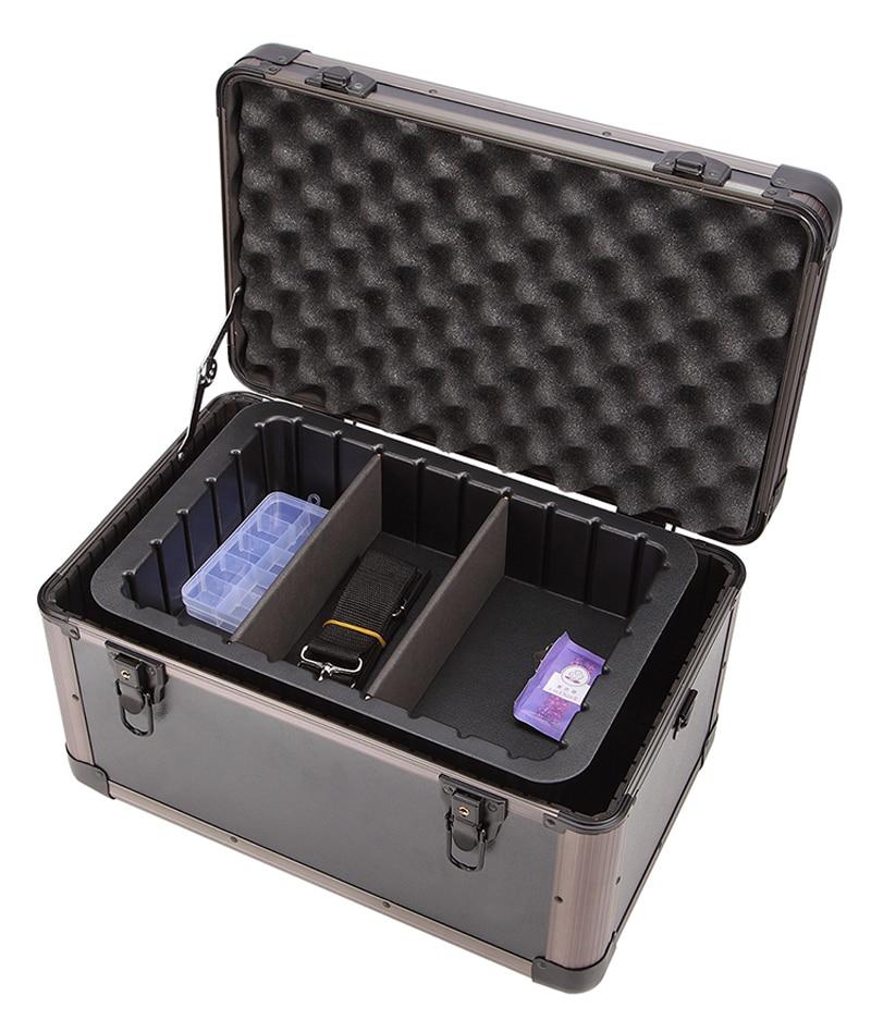 Waterproof Gardening Aluminium Framed Equipment Tool Handy Case Portable Carrier Container Foam Cutting Toolbox