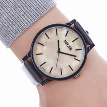 Miler Men Watches Top Brand Luxury Women Quartz Watch Leather Strap Wristwatch Unique dial design Watch relogio masculino Clock