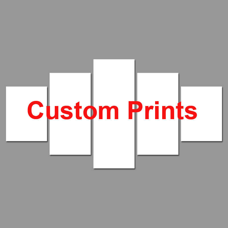 5 Pieces Custom Canvas Prints Painting Photo Poster Wall Art Home Decor For Living Room w-001