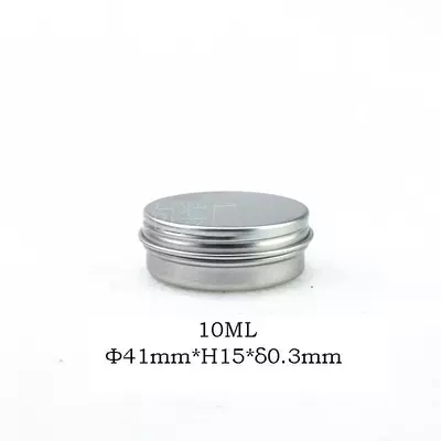 100pcs/lot 10G Aluminum Jar Tin Pots 10cc Metal Cosmetic Packaging Container 1/3oz professional cosmetics container
