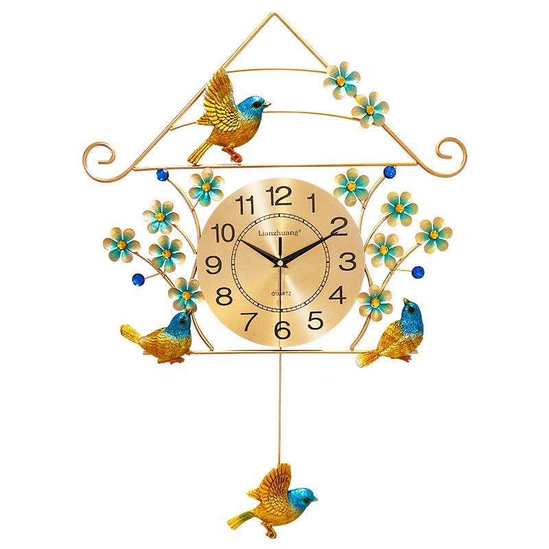Большие золотые настенные часы в винтажном стиле для гостиной в скандинавском стиле, современные минималистичные настенные часы, роскошны... - 2