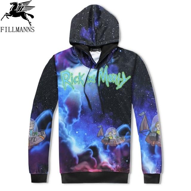 N  Rick and Morty men hoodies sweatshirts 3D Print cotton sweatshirt Hooded Unisex Scientist Anime Hoodies men/women clothing  3