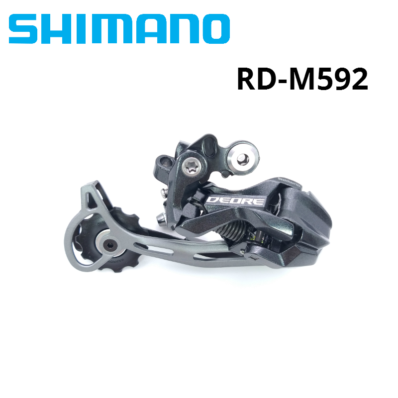 Shimano DEORE XT RD-M592 9 Speed Bike Rear Derailleur 9S M590 M591 M592 MTB Mountain Bicycle Road REAR Derailleurs