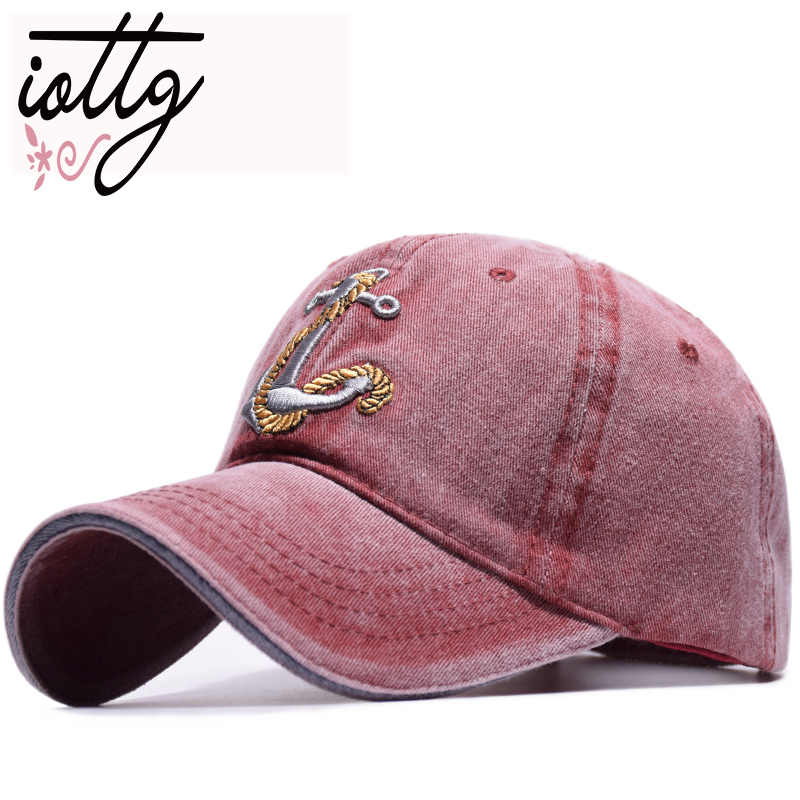 IOTTG New Vintage Style   Baseball     Cap   Old Pirate Ship Anchor Embroidery Snapback   Caps   Fashion Sports Hats Men Women Sun   Caps