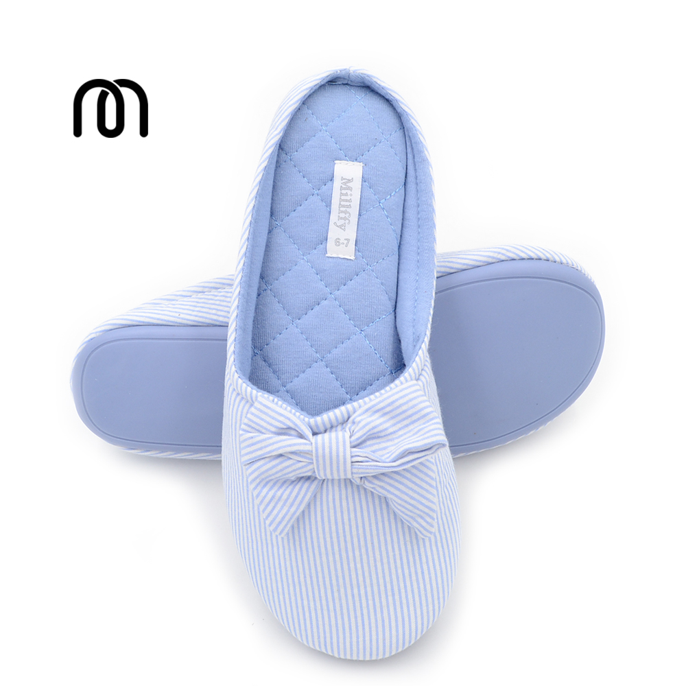 Millffy new anti-shoes indoor home cotton slippers non-slip floor ladies wind shoes open toe pink purple slippers new 2017 anti slip women indoor slippers