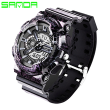 2017 New Military Watch Dual Display Watches Digital Relogios Masculinos Silicone Band Waterproof Men Sport