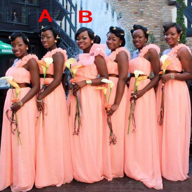 2017 Elegant Long font b Bridesmaid b font font b Dress b font With Flower Strap