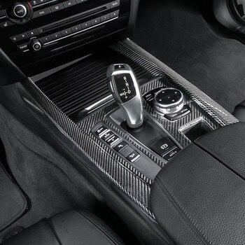 9pcs 100% Carbon Fiber Fit For BMW X5 F15 14-17 Gear Shift Full Frame Cover Trim