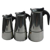 Roestvrij 2/4/6/9 Kopjes Moka Pot Caffe Machine Espresso Kopjes Koffie Makers Latte Percolator Kachel top Moka Koffiezetapparaat