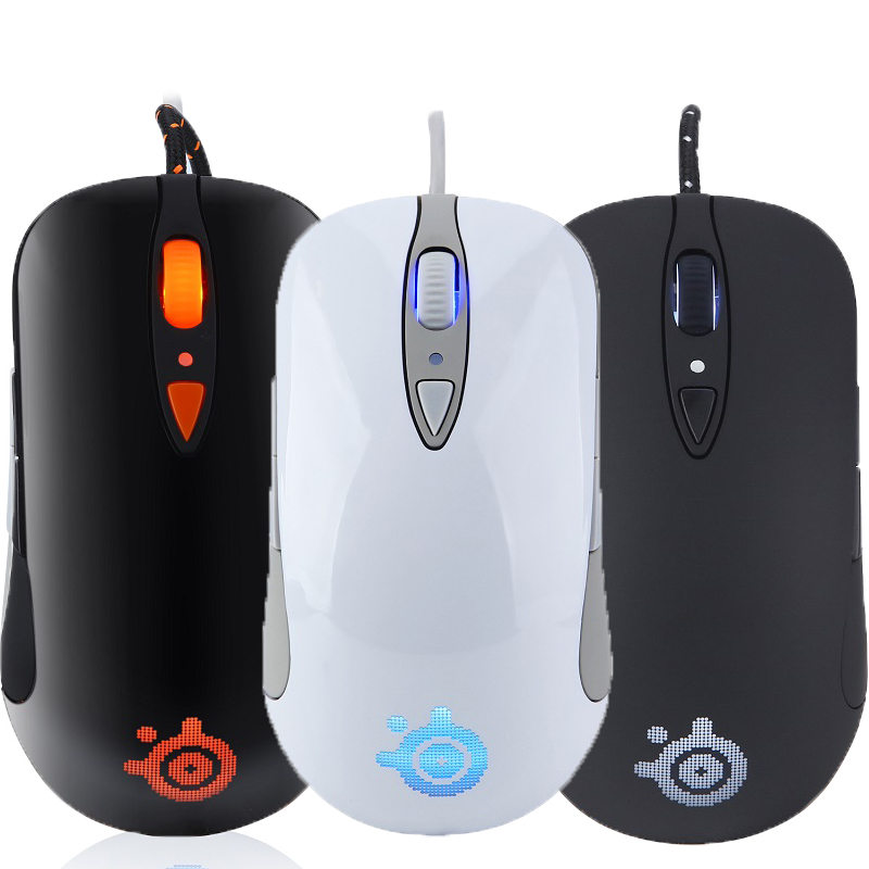 Free shipping Original Steelseries SENSEI RAW Gaming mouse Steelseries Engine Steelseries Laser mouse HEAT ORANGE EDITION