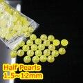 Jalea Citirine AB Color de 1.5mm ~ 12mm Todo el Tamaño Bien Escogido de la parte posterior Plana ABS ronda la Media Perla de perlas, imitación plástica de la media perla perlas