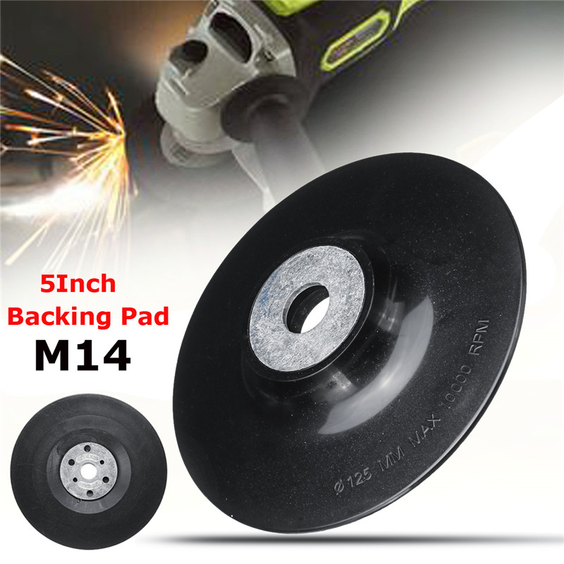 5 Inch 125mm Screw M14 Disc Buffing Bonnet Wheel Sander Special Sander Polishing Disc Angle Grinder Chassis Rubber Backing Pad