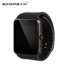 GT08 reloj inteligente reloj teléfono móvil sport fitness hombres PK ranura SIM para Android bluetooth del teléfono smartwatch DZ09 UC08 U8