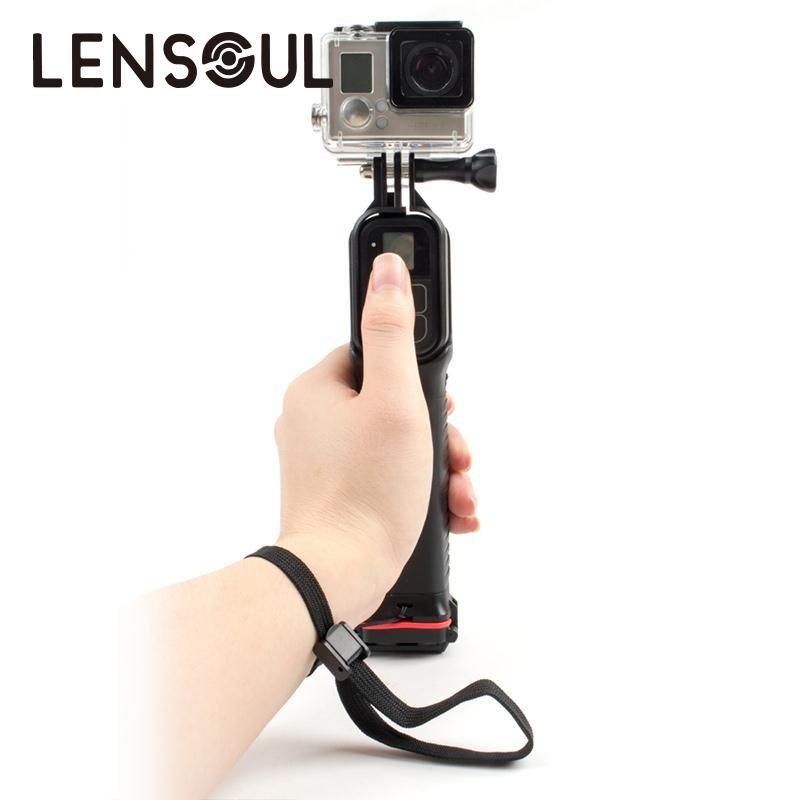 AJ ConsumerElectronics Store lensoul Sports Action Camera Swiming Floating Diving Waterproof Remote Control Handheld Grip Monopod Selfie Stick For GoPro Cam