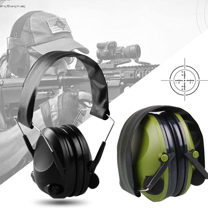 Anti-noise Hunting Earmuffs Ear Protector Impact Electronic Earmuff 21SNR Fold Ear Hearing Protection Outdoor Shooting Ear Muffs