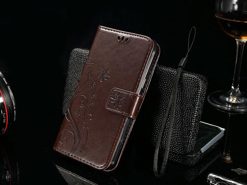 Dla microsoft nokia lumia 640 lumia 630 lumia 550 worek nadrukowane butterfly pu wizytownik skórzany telefon okładka case shell 18