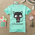 New Baby Girls Short Sleeve T shirt Children Summer Clothes Kids T-shirt cat printed girl shirts