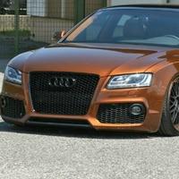 Car Styling 2007 2011 A5 RS5 Sline Black Emblem Front Bumper Mesh Grill Grille For Audi