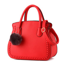 Knitting Edges Sweet Style Ladies font b Handbag b font Women Chic Shoulder Bag PU Leather
