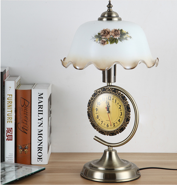 Tuda Free Shipping Glass Table Lamp European Retro Style Table Lamp Creative Nostalgic Table Lamp For Bedroom Bedside Desk Lamp