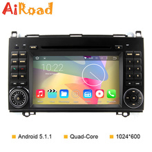 Quad Core Autoradio Android 5.1.1 for Mercedes Benz Classe B200 W169 W245 W639 Viano Vito Sprinter Car GPS DVD Navigation Stereo