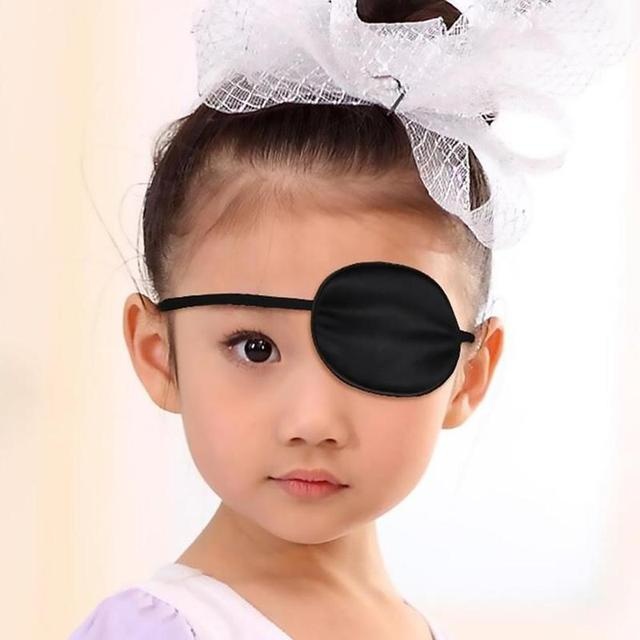 HOT Unisex Black Single Eye Patch  Washable Adjustable Concave Eye Patch Medical Patch Pirate Cosplay Costume 4