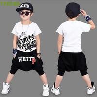 New 2017 Summer Children Clothing Set Short Sleeve T Shirt Pants Kids Sport Suit Vetement Enfant