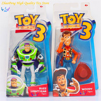 hot sales Toy Story 3 Buzz Lightyear with Wind Toy woody and buzz Figures Retail Box Children gift brinquedos FB185